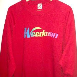 Vintage Crewneck Sweatshirt Weedman Lawn 2x Fit